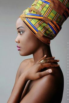 Here are 12 fabrics that make great African head wraps. African Beauty, African Women, African Fashion, Nigerian Fashion, Ghanaian Fashion, Ebony Beauty, African Head Wraps, Head Wrap Headband, Ebony Girls