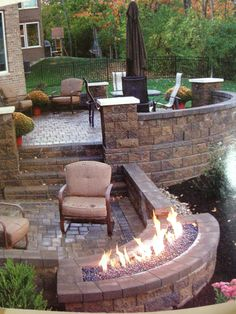 Rounded fire pit