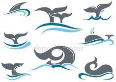 Descargar - Los iconos de la cola de la ballena — Ilustración de stock #78499252