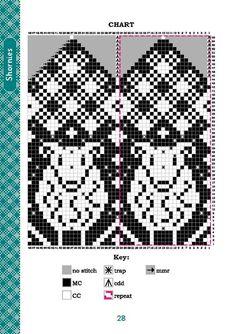 Knitted Mittens Pattern, Fair Isle Knitting Patterns, Knitting Charts, Knit Mittens, Knitted Gloves, Knitting Stitches, Knitting Socks, Beading Patterns, Crochet Patterns