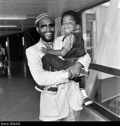 Marvin Gaye with his son, Frankie