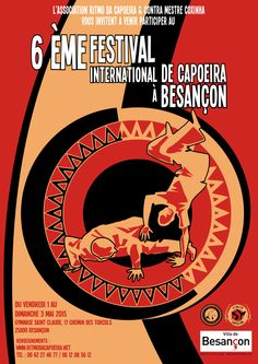 Affiche festival capoeira Besançon 2015