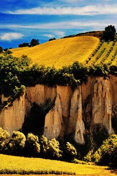 Riserva Naturale dei Calanchi di Atri, Italy http://beautifulvacationspots.com/