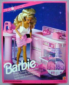 Barbie 1991 accessory Pink Magic Barbie Magic Action Dishwasher
