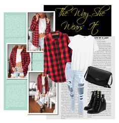 """The way she wears it"" by ina-kis ❤ liked on Polyvore featuring Top Moda, casualoutfit, rippedjeans and shirt"