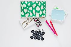 stationery kit: keep a pouch filled with a small stack of cards, stamps, stickers and writing supplies.