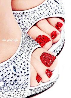 Red Diamond Nails, 2014 valentine's day nails ideas  www.loveitsomuch.com