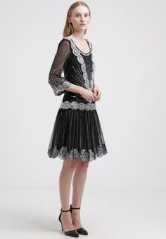 Frock and Frill Cocktailkjoler / festkjoler - black - Zalando. Sequin Dress, Lace Dress, Style Année 20, Frock And Frill, Gatsby Party, Kobe, Frocks, Party Dress, Sequins