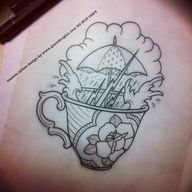 I like the idea of this for a tattoo to honor my daughter. Possibly with a quote from The Tempest