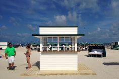Surfcomber Miami South Beach in Miami Beach, FL. Custom design/build beach hut equipment by CustomBeachHuts.com