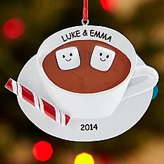 Christmas Cocoa Couple Ornament