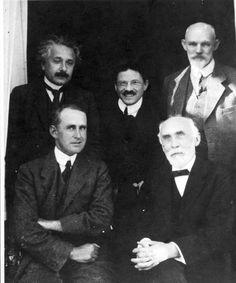 Albert EINSTEIN, Arthur Stanley EDDINGTON, Paul EHRENFEST, Hendrik Antoon LORENTZ, and Willem de SITTER, 1920.