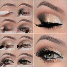Primer, gray, brown, peach, silver/white shadow