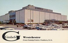 Here's a really cool shot of the Gimbels Westchester department store at the  Cross County Shopping Center in the ' 50s. Description from mallsofamerica.blogspot.com. I searched for this on bing.com/images