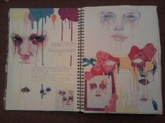 Gcse art sketchbook, sketchbook inspiration, a level art sketchbook layout, Textiles Sketchbook, Gcse Art Sketchbook, Fashion Sketchbook, Sketchbooks, Art Journal Pages, Journal Ideas, A Level Art Sketchbook Layout, Kunst Portfolio, Portfolio Ideas