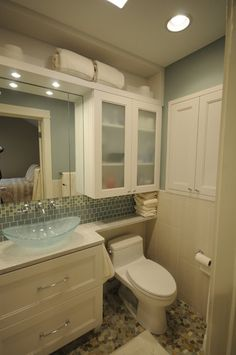 Large Mirror With Cabinet Over The Toilet For Storage Bathroom - Best over the toilet storage for small bathroom ideas