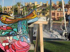ARTE APLICADO : Claudio Baldrich Artista Plastico Park, Outdoor Decor, Home Decor, Paint Wood Furniture, Painted Chairs, Painted Wood, Appliques, Artists, Decoration Home