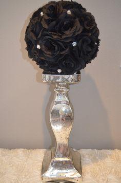 Bling Pearl Elegant Wedding Black hanging flower by KimeeKouture, $22.00