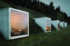 Garage with a view, by Kunz-Architektur