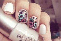 Flower nail art is a creative manner which look very colourful. Here are the multiple colours of flower nail art designs that you can easily able to do this. Nail Art Designs 2016, Flower Nail Designs, Flower Nail Art, Floral Designs, Art Flowers, Beautiful Flowers, Get Nails, Love Nails, Hair And Nails