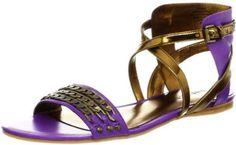 Ultra Glamorous and Super Flattering!!! - Nine West Women's Scat Sandal - Purple/Light Bronze Leather