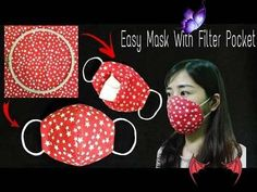 Making a face mask at home   DIY Face Mask Without Sewing Machine   Easy Mask With Filter Pocket Making a face mask at home   DIY Face Mask No Sewing Machine   Easy Mask With Filter Pocket - YouTube<br> Sewing Hacks, Sewing Tutorials, Sewing Crafts, Sewing Projects, Sewing Patterns, Beginners Sewing, Easy Face Masks, Diy Face Mask, Diy Couture