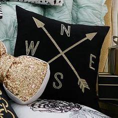 The Emily + Meritt Compass Pillow Cover