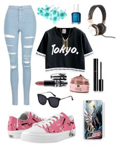 """Japan!"" by the-meaning-of-leah ❤ liked on Polyvore featuring Topshop, Chanel, Gemelli, Essie and MAC Cosmetics"