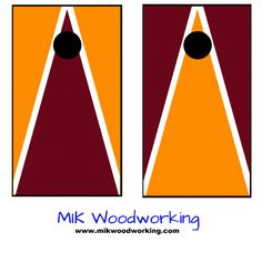 Virginia Tech Cornhole Set by MIK Woodworking