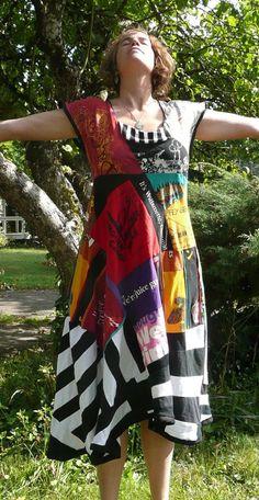 Upcycled tee dress: