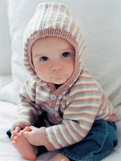 PR Rowan baby's hooded jumper to knit - Free knitting patterns - Craft - allaboutyou.com