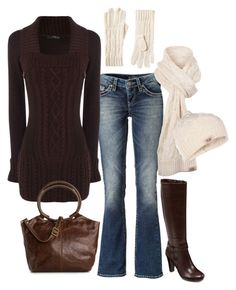 """Casual Fall/Winter"" by masilly1 ❤ liked on Polyvore featuring Silver Jeans Co., Jane Norman, HOBO and UGG Australia"