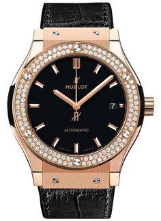 #Hublot Classic Fusion King Gold #Diamonds #Watch