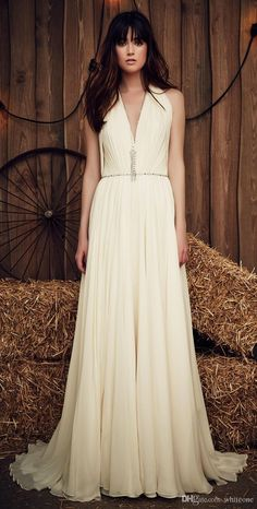 Wholesale tea length wedding dresses, wedding dress designers and wedding outfits on DHgate.com are fashion and cheap. The well-made jenny packham 2016-2017 summer beach bohemian a line wedding dresses v neck cap sleeves ivory chiffon cheap boho bridal gowns for outdoor sold by whiteone is waiting for your attention.