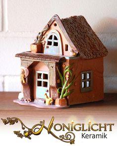 Leuchthaus - Wichtelhaus - Gartenhaus von Honiglicht auf DaWanda.com