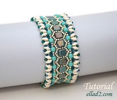 Beading Tutorial for Honeycomb Bracelet is very detailed, with clear beading instructions, step by step and with photos of each step.