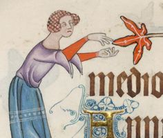 Detail from The Luttrell Psalter, British Library Add MS 42130 (medieval manuscript,1325-1340), f78v