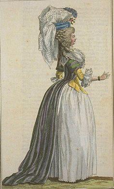 Cabinet des Modes, Novembre 1786 robe a la turque