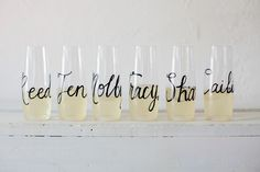 Personalized Toasting Flutes | Bridesmaids Gift Ideas | Tallahassee Wedding Planner - Shannon Reeves Events