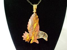 """Eagle Necklace Regal by WireWrapper on Etsy, $28.00  The perfect """"man"""" gift for Christmas"""