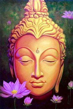 Buddha indian art painting by nitin sonawale sale online, artist . Buddha Kunst, Buddha Zen, Gautama Buddha, Buddha Face, Buddha Tattoos, Image Yoga, Yoga Studio Design, Meditation, Mandala
