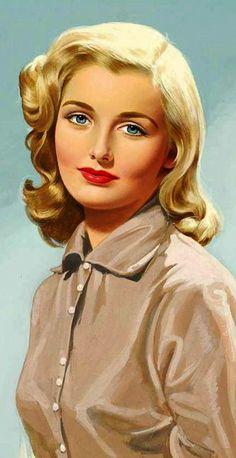 Lou Shabner - Original Pin-up : Glamour Art Moda Vintage, Vintage Ladies, Retro Vintage, Pinup Art, Poster S, Vintage Makeup, Retro Art, Pin Up Girls, Art Girl