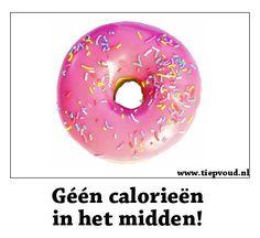 Géén calorieën in het midden