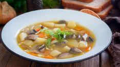 Dubáková polievka s koreňovou zeleninou | Recepty.sk Cheeseburger Chowder, Ramen, Soup, Cooking, Ethnic Recipes, Kitchen, Soups, Cuisine, Chowder