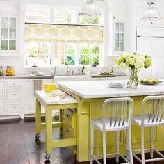 выдвижной стол как дополнительное пространство на кухне