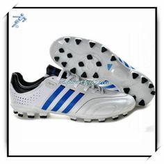 Soccer Cleat Production Uchida Adidas Adipure 11Pro 2 TRX AG White Blue Black