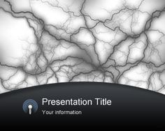 Free Wireless PowerPoint Template with electricity effect