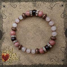 Loving Flame Bracelet - Rose Quartz, Rhodonite, Garnet