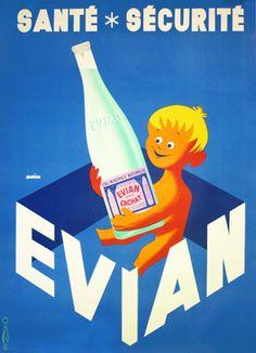 Evian Sante Securite - 1954 - Galerie Montmartre - galmont.com.au - $1500 - 112 x 154 cm