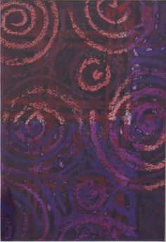 Peter Coker - Spiral in brown, red and purple   Melted wax & crayon, c 1954-56 available on www.retrosixty.co.uk   #modernbritish #art #abstract